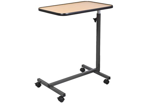 Goplus Overbed Rolling Table Over Bed Laptop Food Tray