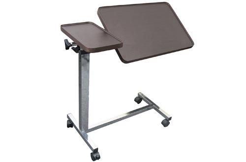 Medical Deluxe Tiltable Overbed Bedside Table