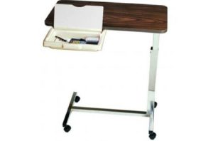 Overbed Table With Vanity Non-Tilt Automatic Spring Assisted