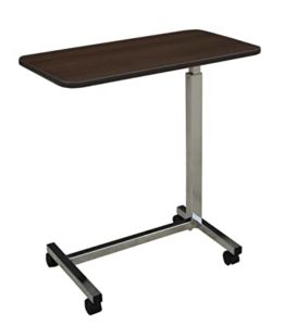 Medline Overbed Bedside Table with Wheels for Home, Nursing Home, Assisted Living, or Hospital use